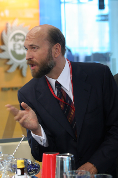 Sergei Pugachev during the XII St Petersburg International Economic Forum (2008) / Sergueï Pougatchev lors de la XII Saint-Pétersbourg Forum économique international (2008) / Сергей Пугачев во время XII Петербургского Международного Экономического Форума (2008 г.)