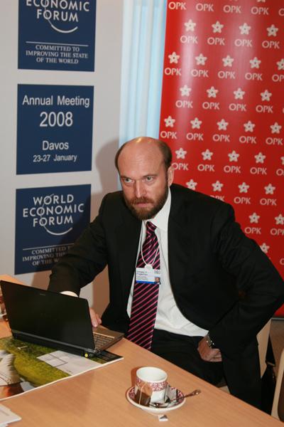 Sergei Pugachev during the World Economic Forum (2008) / Sergueï Pougatchev lors du Forum économique mondial (2008) / Сергей Пугачев во время Всемирного экономического форума (2008)