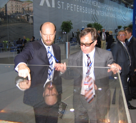 Sergei Pugachev during the XI St Petersburg International Economic Forum (2007) / Sergueï Pougatchev lors de la XI Saint-Pétersbourg Forum économique international (2007) / Сергей Пугачев во время XI Петербургского Международного Экономического Форума (2007 г.)